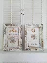 set of two french wall decor framed