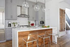 coolest beautiful transitional kitchen in white gray and reclaimed wood and small kitchen islands for