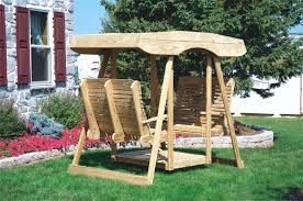 wood canopy outdoor pine double lawn swing glider with canopy wooden outdoor canopy plans