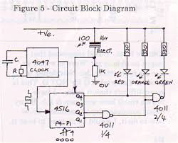 electronic traffic lights circuit circuit block diagram