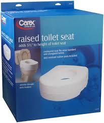 elongated raised toilet seat. carex raised toilet seat b310-00 1 each [023601131003] elongated