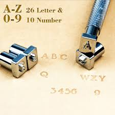 diy leather puncher tools letter stamp tool uppercase capital letters 26 alphabet leather craft stamps working