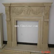 yellow stone marble fireplace mantels fireplace surround carved bird fireplaces mental
