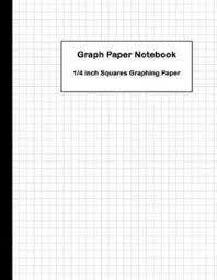 Buy Graph Paper Notebook 1 4 Inch Squares Graphing Paper By