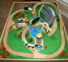wooden train sets thomas and friends table uk toy set the railway sheds