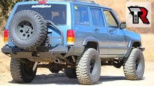 Jeep Xj Rear Bumper And Tire Carrier Install Smittybilt Xrc