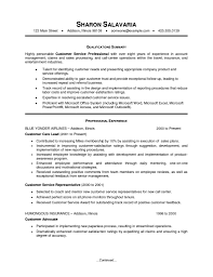 Customer Service Resume Summary Statement 6668