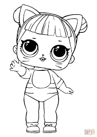 Lol Coloring Pages For Kids With Lol Doll Baby Cat Coloring Page