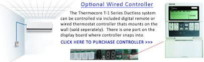 thermocore t121d h218 dual zone energy star mini ductless split 21 wired thermostat controller