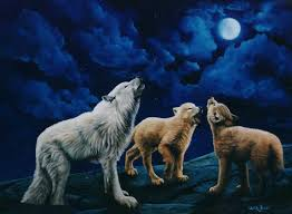 wolf howling painting. Interesting Painting Wolves Howling And Wolf Painting