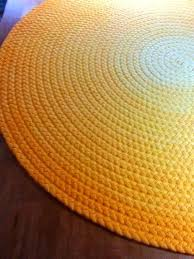 cotton braided area rug in bright yellow round or oval sizes available rugs