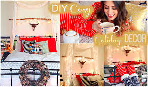 diy cozy holiday room decor tumblr christmas youtube