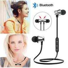 <b>Magnetic Wireless Bluetooth</b> Earphone Music Headset Phone ...