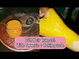 painless hair removal with turmeric and