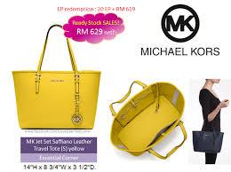 michael kors jet set travel saffiano leather small tote yellow essential corner
