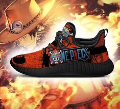 Rulercosplay one piece portgas d ace cowboy hat cosplay hat + necklace. Portgas D Ace Reze Shoes One Piece Anime Shoes Fan Gift Idea Tt04 Tazazoncom Kuroprints
