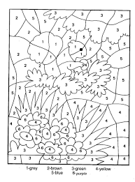 Coloring Pages For Adults To Print Of Flowers Color By Number Free