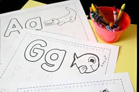 :) download, print, share our alphabet coloring pages. Free Trace Color Alphabet Printables School Time Snippets