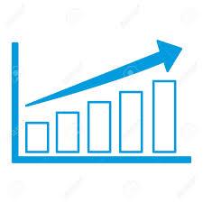 Graphic Design Stats Bars Stats Graphic Icon Vector Illustration Graphic Design