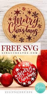 Winter snowflake kisses bundle svg | dxf cut file. Merry Christmas Free Svg Cut File Gina C Creates