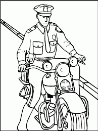 Small Picture Free Printable Policeman Coloring Pages For Kids