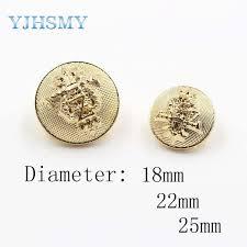 Online Shop 183231,<b>12pcs</b> 18mm 22mm 25mm Metal Blazer Button ...