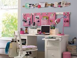 Bedroom Attractive Teenage Bedroom Design With Corner White Desk Inside  Desks For Teenage Bedroom ...
