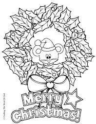 Christmas Wreath Coloring Page Crafting The Word Of God