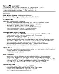 James Madison University - Resume: Format with regard to Student Affairs  Resume