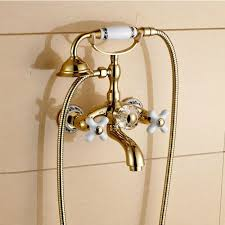 clawfoot bathtub faucet with hand shower zoom