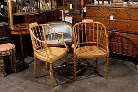 furniture made of bamboo. Two Mid-20th Century Bamboo Tub Armchairs From Furniture Maker Baker. These Baker Made Of