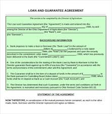 Letter Of Agreement Samples Template Simple 48 Loan Contract Templates DOC PDF Free Premium Templates