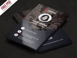 Free Business Card Templates Psd Modern Business Card Free Psd Template Psdfreebies Com