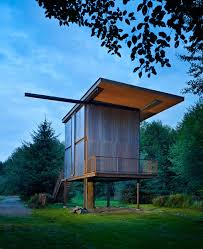 Small Picture Steel Clad 350 Sq Ft Modern Cabin on Stilts with Shutters