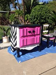 Purple And Zebra Bedroom Repainted An Old Dresser For My Daughters Monster High Theme