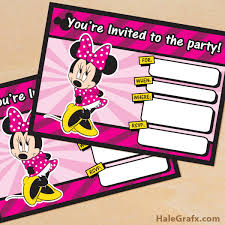 Free Minnie Mouse Birthday Invitations Free Printable Minnie Mouse Birthday Invitation