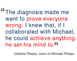 Adhd Quotes Extraordinary Michael Phelps' Mom On ADHD