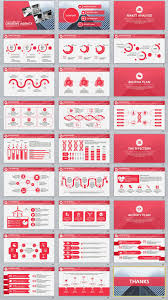27 red business report professional powerpoint templates powerpoint template item details