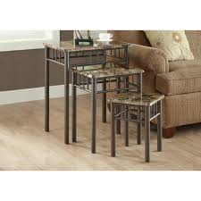 nesting end tables. Monarch Specialties Cappuccino Marble 3-Piece Nesting End Table Tables I