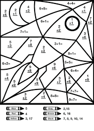 Color By Math Worksheets Math Coloring Addition Worksheet Color ...