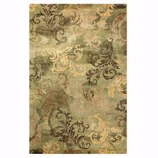 home decorators collection symphony sage green 4 ft x 6 ft area rug