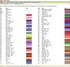 Dmc Embroidery Thread Color Chart Cross Stitch Color Chart Threads Dmc Needlework Threads