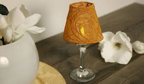 free project instructions for embroidering a lace wine glass lampshade
