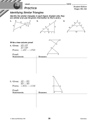 Identifying Similar Triangles Worksheet for 10th Grade | Lesson Planet