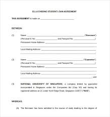 Free Loan Agreement 100 Loan Agreement Templates Free Sample Example Format Download 24