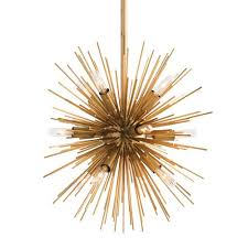 arteriors mini zanadoo chandelier brass