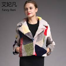 fashion genuine sheepskin fur coats for women winter warm wool coat female noble patchwork warm sheep