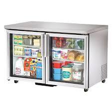 true 48 5in under counter refrigerator glass door