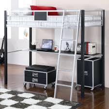 bunk bed desks twin loft with desk trundle combo