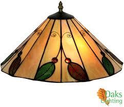 oaks lighting leaf tiffany ceiling light ot 3020 14 r none